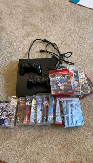 PS3 with all games and cords for Sale in District Heights, MD