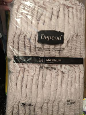 Always discreet and Depends incontinence underwear for women for Sale in El Dorado, KS