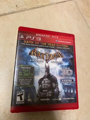 Batman Arkham Asylum Game of the Year Edition Ps3 game for Sale in Boca Raton, FL