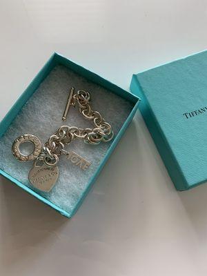 Tiffany charm classic bracelet with extra charm for Sale in Walnut Creek, CA
