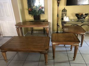 4 pc Set Coffee table 2 sides tables and console table for Sale in Tolleson, AZ