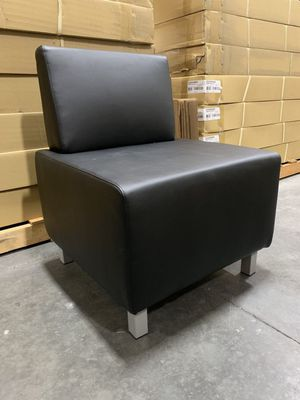 NEW HON Basyx HVL864 Modular Chair Sectional Soft Thread Leather Black Ottoman 25x25x31 inch Tall 250 lbs Capacity Restaurant Office Home Modern Furn for Sale in Los Angeles, CA