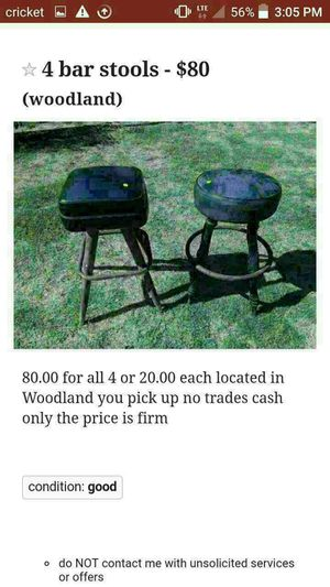4 bar stools for Sale in OR, US