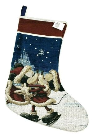 Disney Parks Holiday Cheer Mickey Minnie Mouse Turn Of The Century Stocking Christmas for Sale in Spring Valley, CA