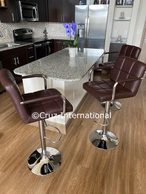 New 3 brown stools with arms for Sale in Orlando, FL