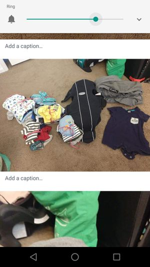 Baby Bjorn for infant to 11 lbs and clothes for Sale in Atascadero, CA