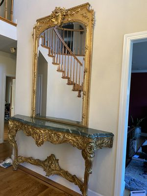 French antique mirror and table for Sale in Half Moon Bay, CA