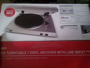 ION turntable. TTUSBO5XL /Vinyl Archiver Record to MP3 for Sale in Austin, TX