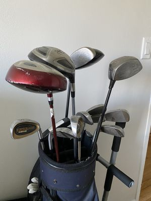 Golf Club set - 3 drivers, set of irons, putter, bag, glove, and balls for Sale in New York, NY