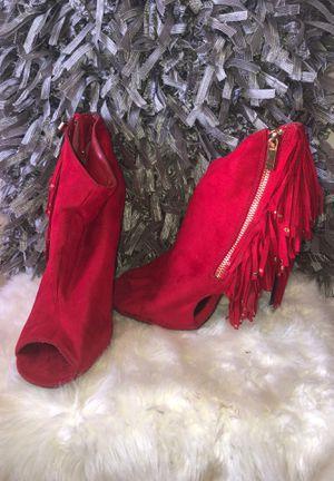 Red open toe heels for Sale in Manassas, VA