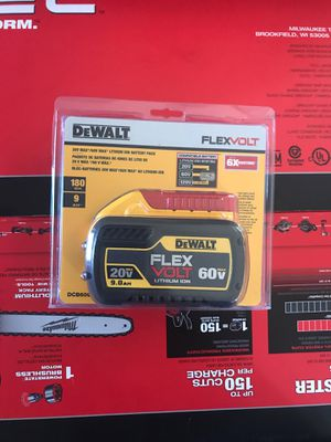 Dewalt flex volt lithium 20 vmax 9.0ah 60 vmax brand new (never used) pickup only for Sale in San Diego, CA