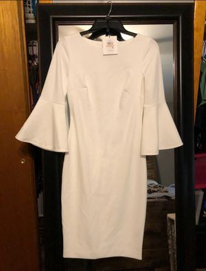 Calvin Klein White Bel Sleeve Dress for Sale in Chicago, IL