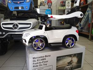 Luxury licensed Mercedes Kids Convertible Ride-On Push-Car and Rocking Chair includes Leather Seat, Aux Plug-in for Sale in Long Beach, CA
