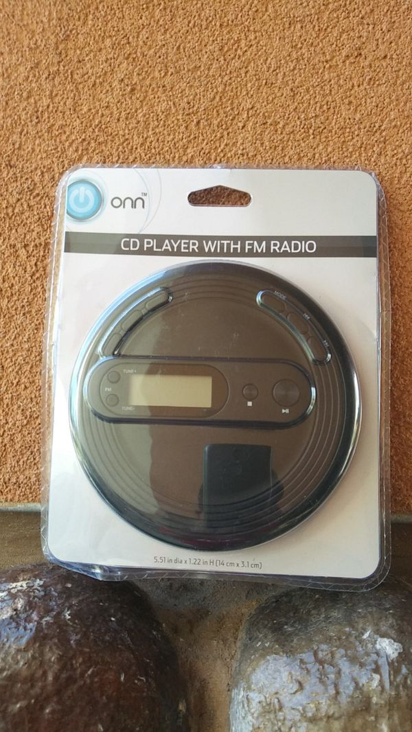 Onn CD player with FM radio
