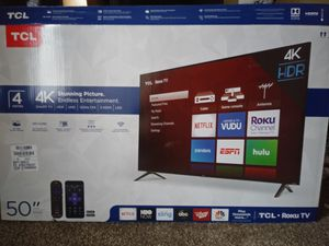 50 INCH TCL ROKU TV for Sale in Tampa, FL