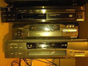 Vhs, DVD Sony, RCA, Mitsubishi player lot for Sale in Stockton, CA