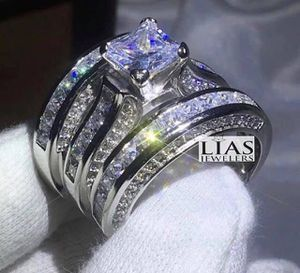 New 14 k white gold wedding ring set stamped 14 k for Sale in Orlando, FL