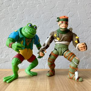 Vintage Teenage Mutant Ninja Turtles Green Genghis & Rat King Action Figure TMNT Toy Lot for Sale in Elizabethtown, PA