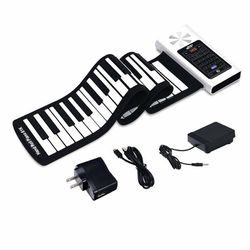 61 Key Electronic Roll Up Silicone Rechargeable Piano Keyboard for Sale in Diamond Bar,  CA