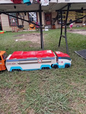 Paw patrol trailer an recycle car for Sale in Houston, TX