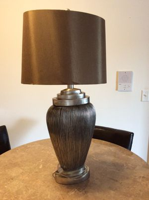 Black and silver lamp with shade. for Sale in Joliet, IL
