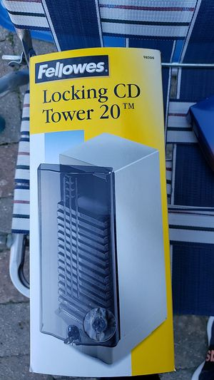 Locking CD Tower for Sale in Maple Park, IL