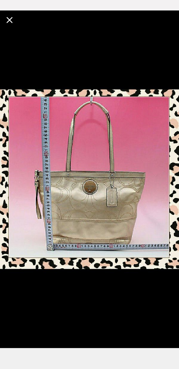 Coach Signature Stitch Tote Bag F18877