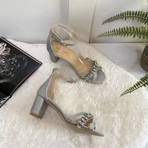 Size 7 Glitter Ankle Strap Block Heels Sandals for Sale in Las Vegas, NV