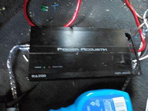 "2500 watt power accoustic mono block amp and a 10"" Phoenix gold sub in ported box hits hard $120 obo for Sale in Saint Joseph, MO"