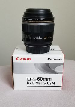 Canon EF-S 60mm f/2.8 Macro USM Fixed SLR Lens for Sale in Cape Coral,  FL