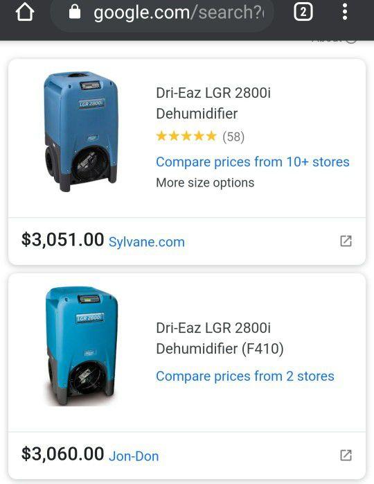 Dri Eaz Dehumidifier 2800i
