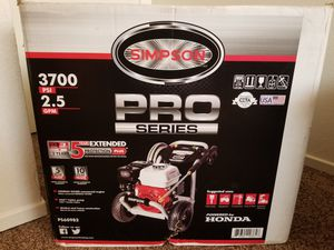 SIMPSON Pro Series 3700-PSI 2.5-GPM Cold Water Gas Pressure Washer with Honda Engine CARB for Sale in Modesto, CA