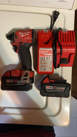 Milwaukee drill with 2 batteries and charger for Sale in The Bronx, NY