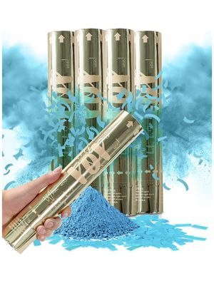 Blue Gender Reveal Confetti Powder Cannon - Set of 4 for Sale in Victorville, CA