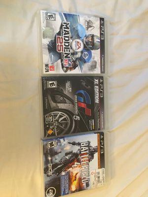 PS3 Games - Battlefield 4, GT 5, Madden 25 for Sale in Deerfield Beach, FL