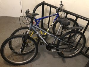 2 mountain bikes in very good condition for Sale in Newton, MA