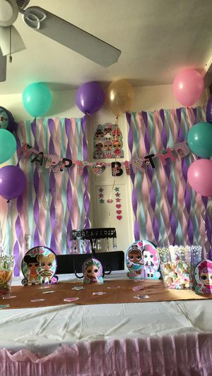 LOL kids party decoration party supplies ONLY cut outs, birthday banner confetti napkins cupcake toppers for Sale in West Covina, CA