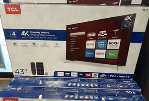 "43"" TCL roku smart 4K led uhd hdr tv for Sale in Perris, CA"