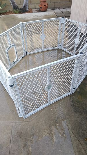 Dog crate or baby play pen w/ doggy door for Sale in Long Beach, CA