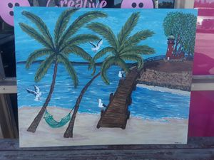 60x32 Hand painting by my sister for Sale in Lakeland, FL