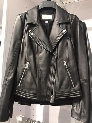 Brand new with tag $495 Michael Kors black leather jacket size XL for Sale in Hayward, CA