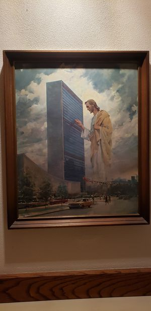 Picture picture of Christ knocking at the United Nations building. for Sale in Woodinville, WA