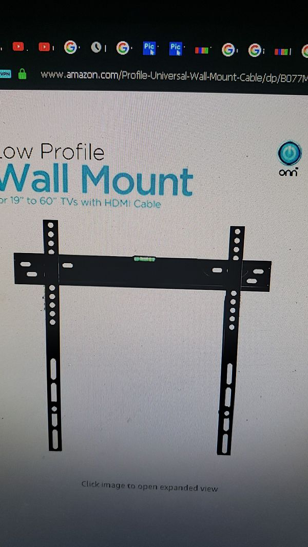 2 NEW TV Mounting Brackets W/ HDMI Cable