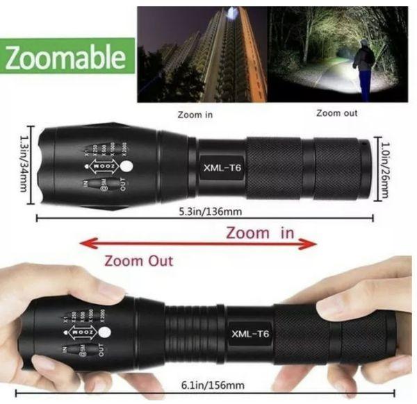 2 Pack Tactical LED Flashlights Ultra Bright Camping Fishing Hiking