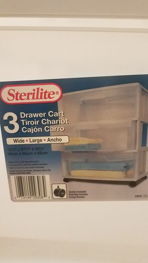 Sterilite plastic drawers for Sale in Natick, MA