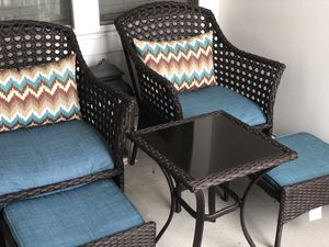 Backyard Classics Bainbridge 3-Piece Wicker Chair Set with Ottoman for Sale in McLean, VA