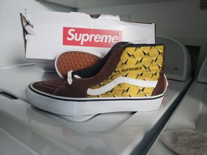 Supreme high top diamond plate Van's size 8.5 new for Sale in Virginia Gardens, FL