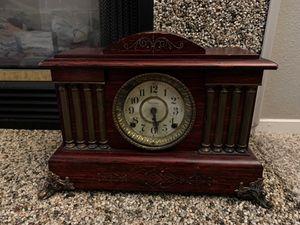 1900's antique Seth Thomas mantle clock w/ 8 Pilar and lion head for Sale in Clovis, CA