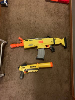 Fortnight nerf guns for Sale in Marysville, WA