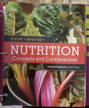 Nutrition Concepts and controversies 14th edition for Sale in West Covina, CA